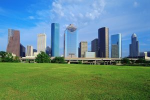 Houston, Texas, USA --- Houston Skyline --- Image by © Royalty-Free/Corbis
